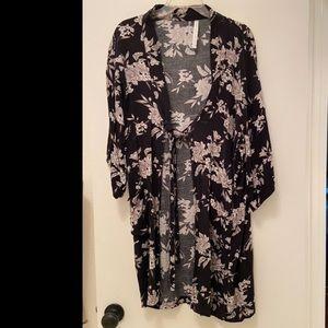 Spiritual Gangster Maya Kimono NWOT floral duster